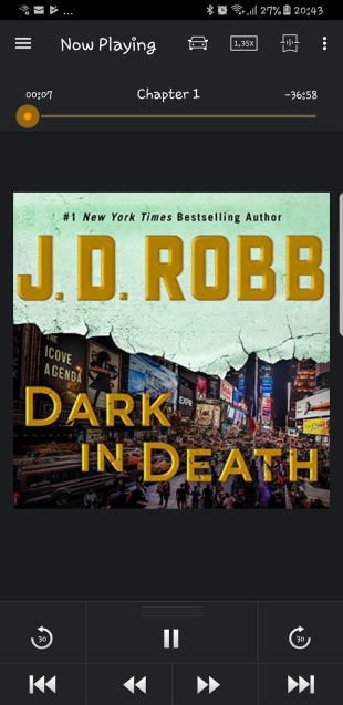 DARK IN DEATH by JD Robb (UK)