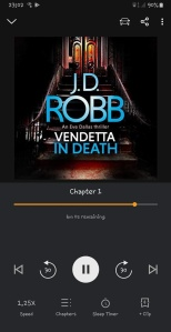 Vendetta In Death by JD Robb (UK cover audiobook)